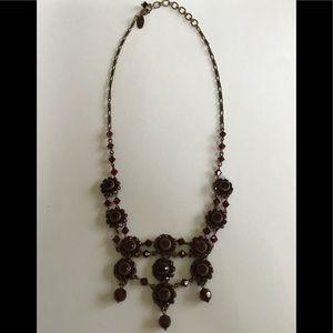 Liz Palacios Bohemian Garnet Style Bronze Necklace
